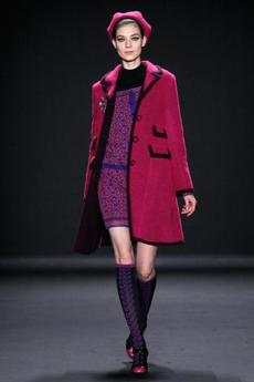 A model walked the runway during the Anna Sui Fall 2013 show as part of New York Fashion Week.