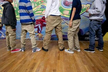Teenagers at the Dorchester Youth Collaborative talked about their preference for sagging pants.