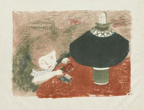Sterling and Francine Clark Art Institute Pierre Bonnard (French, 1867-1947), Child with a Lamp, 1896. Color lithograph on paper, sheet: 17 1/16 x 22 1/2 in. (43.3 x 57.1 cm). Sterling and Francine Clark Art Institute, Williamstown, Massachusetts, 1962.8 [© 2013 Artists Rights Society (ARS), New York / ADAGP, Paris] -- 10Electric