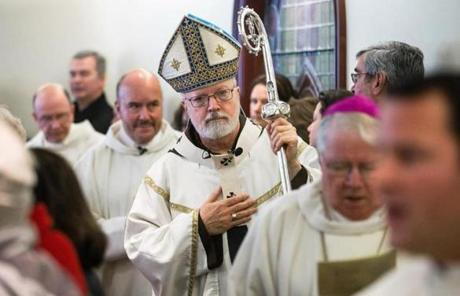Cardinal Sean O'Malley led a Mass for the Feast of the Chair of St. Peter the Apostle at the Pastoral Center in Braintree Friday.