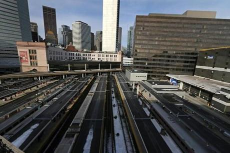 Governor Deval Patrick's South Station plans call for adding new tracks to the station's existing 13, which would require relocating a US Postal Service facility currently on Dorchester Avenue.
