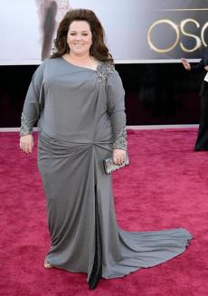 Actress Melissa McCarthy arrived at the Oscars.