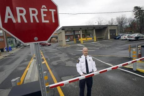 Miguel Begin, the chief of operations for the Canada Border Services Agency's Stanstead sector, stood at the Canadian port of entry in Stanstead, Quebec.