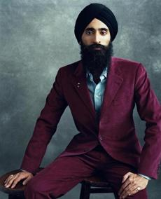 Actor and designer Waris Ahluwalia photographed by Norman Jean Roy in 2011.