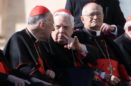 Former Archbishop of Boston cardinal Bernard Law attended the pope's general audience.