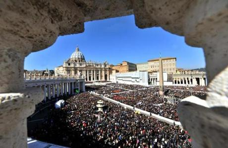 Pope Benedict XVI held his last general audience in St. Peter's Square.
