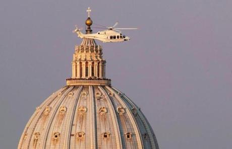 A helicopter with Pope Benedict XVI aboard left the Vatican.