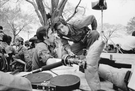 Kerry, right, spoke Thorne at a Vietnam Veterans Against the War demonstration in Washington, in this April 1971 file photo.