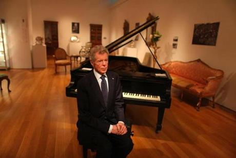 Mr. Cliburn, with the 100-year-old Steinway he used in his youth, would play publicly only sporadically after his 20s.