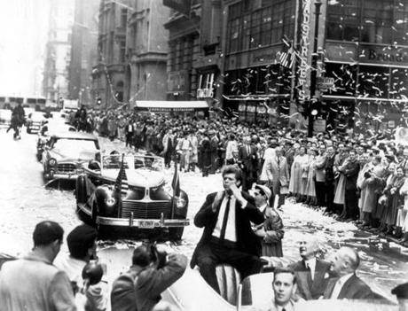 Mr. Cliburn was greeted with a parade after his victory.