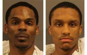 Brian Cooper (left) and Jamel Bannister face murder charges in connection with a shooting there Thursday