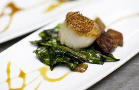 A chef's course of scallops was offered at Hemenway's Restaurant.
