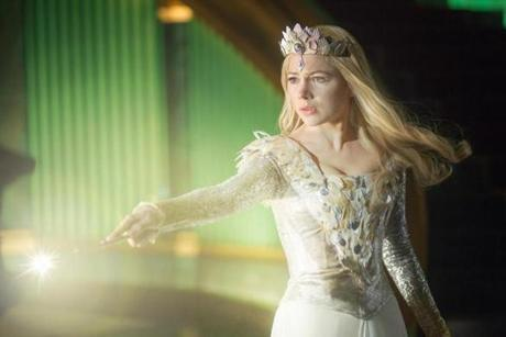 Michelle Williams as Glinda, the Good Witch.