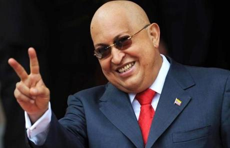 Hugo Chavez smiled during a visit by the Russian foreign minister to Caracas in August 2011.