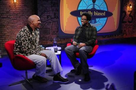 "David Alan Grier with W. Kamau Bell on FX's ""Totally Biased"""