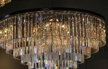 A chandelier hung in the new store.
