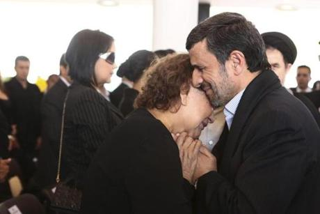 Iran's President Mahmoud Ahmadinejad offered his condolences to Chavez's mother.
