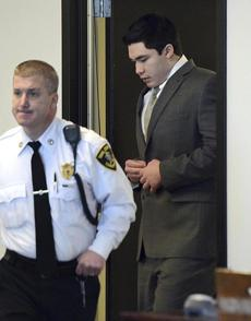 Nathaniel Fujita entered the Middlesex Superior courtroom on Thursday before his sentencing. His defense that he was psychotic at the time of the killing was rejected.
