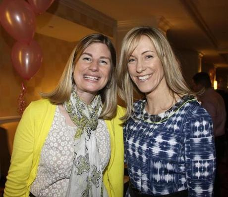 SCHOOL'S IN: Patti Elliot and Eileen Heller, both of Milton, at a Milton Foundation for Education fund-raiser at the Boston Marriott Quincy on March 9