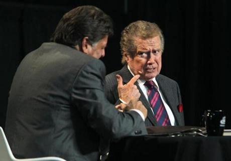 TALKING TURKEY: TV host Regis Philbin onstage at the New England Food Show at the Boston Convention & Exhibition Center on March 11