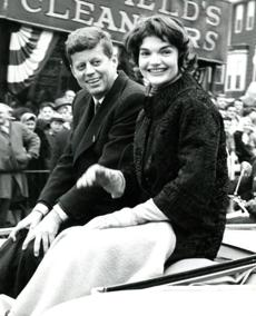 March 17, 1958: Senator John F. Kennedy and his wife Jacqueline were crowd favorites at this parade. Whenever their car halted, the Kennedys were surrounded by well-wishers seeking to shake his hand and shouting