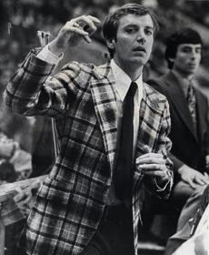 Parker, shown on March 9, 1975, won NCAA Coach of the Year honors for his work that year.