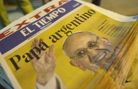 A newspaper in Colombia announced the new pontiff.