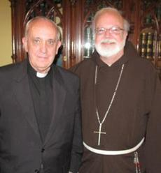 Cardinal Sean P. O'Malley met with the new pope, then Cardinal Jorge Bergoglio, in Buenos Aires Dec. 5, 2010.