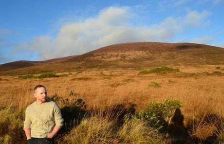 Thomas Breathnach at the Vee Mountain Pass on the border of counties Waterford and Tipperary.