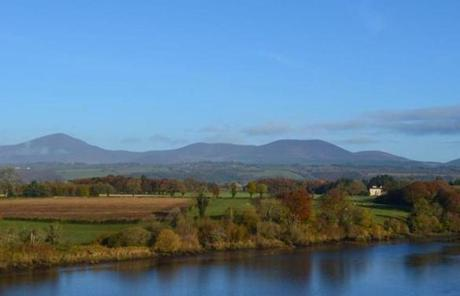 The Blackwater River and the Knockmealdown Mountains, seen from East Wing of Dromana House.
