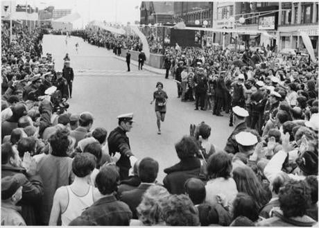 4/17/1972 Nina Kuscsik, 1st women's Marathon winner. -- Library Tag 04102002 Sports -- Marathonhistory