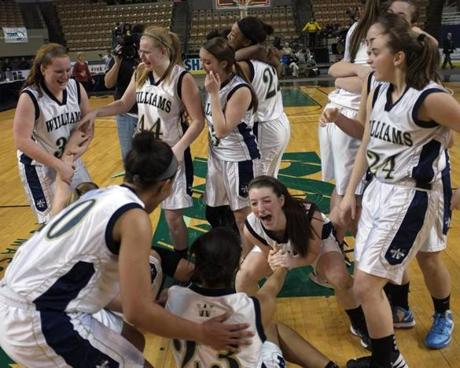 Archbishop Williams players celebrated their win over Lee during the Division 3 finals.
