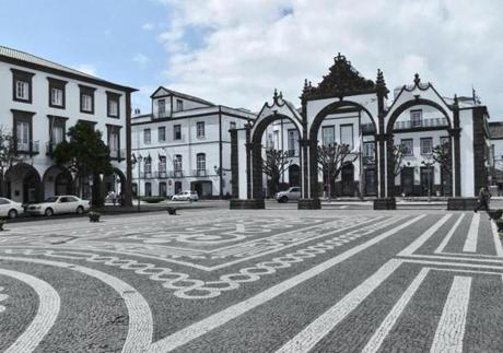 Ponta Delgada's downtown is immaculate.