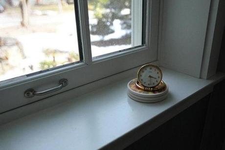 Window sills are extra wide because of thick, insulated exterior walls.