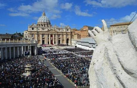 Hundreds of thousands packed St. Peter's Square for the pope's installation Mass.