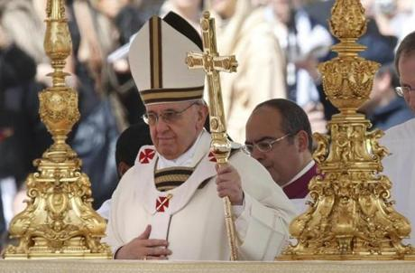 Pope Francis took part in his inaugural Mass in St. Peter's Square on Tuesday.