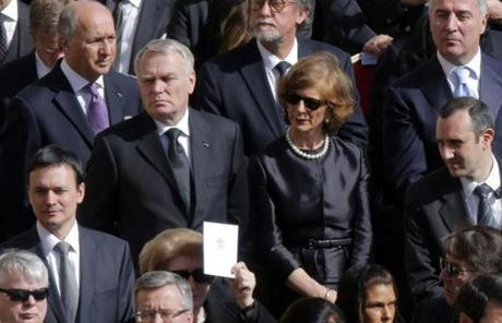 French Prime Minister Jean-Marc Ayrault was among the world leaders who attended the Mass.