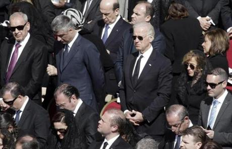 Among the hundreds of dignitaries in attendance was Vice President Joe Biden.