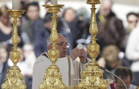 During his inaugural Mass, Francis was interrupted by applause several times.