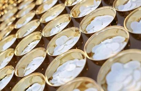 Chalices containing hosts were prepared before the Mass.