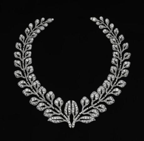 Two articulated fern-spray brooches, 1903, diamonds and platinum.