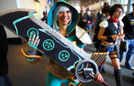 "Bonnie Szeto of Norwood arrived dressed as Riven from the ""League of Legends"" game."