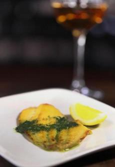 The sourcing for the ingredients at Barcelona Wine Bar is local, including the fluke a la plancha.