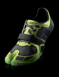 Topo Athletic's split-toed shoe.