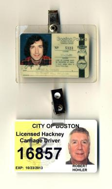 Hohler, who drove a cab during his college years in the 1970s, acquired a hackney license again and drove eight shifts.