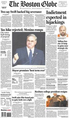 In 2001, Menino defeated Peggy Davis-Mullen, a Boston city councilor.