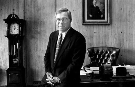 Menino, then City Council president-turned-acting mayor, in a portrait July 21, 1993.