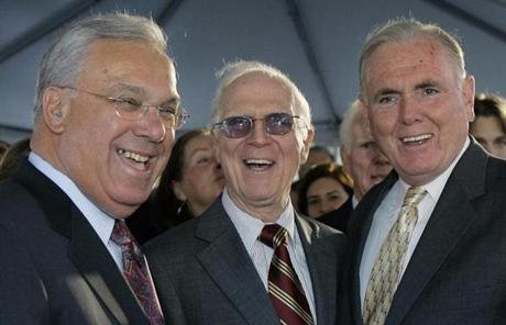 Menino in 2006 with former Boston mayors Kevin White and Raymond Flynn. White died in 2012.