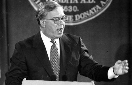 Mayor Thomas M. Menino gave his first State of the City address Jan. 18, 1994.
