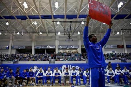 Fans turned out to support the Florida Gulf Coast team at a Monday night pep rally.